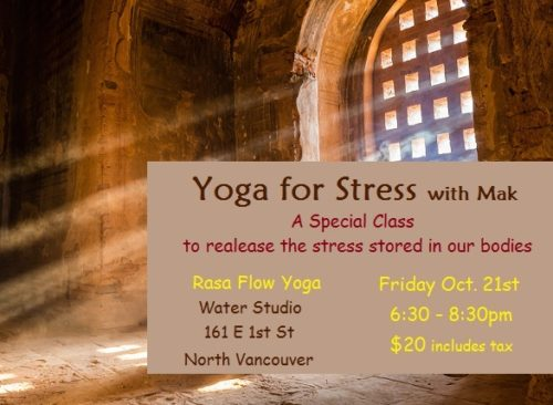 Yoga for Stress - Water Studio Oct. 21