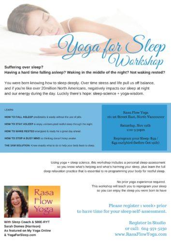 Yoga For Sleep - Water Studio Nov.